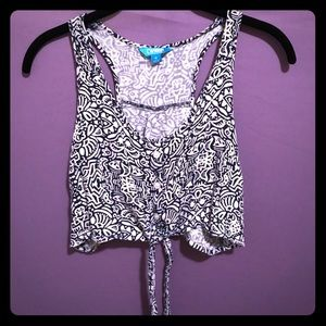 Nanette Laporte Amore Size Medium Cropped Vest
